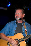 """Butch Hancock at the benefit for Jesse """"Guitar"""" Taylor at Antone's in Austin Texas, April 10, 2008."""