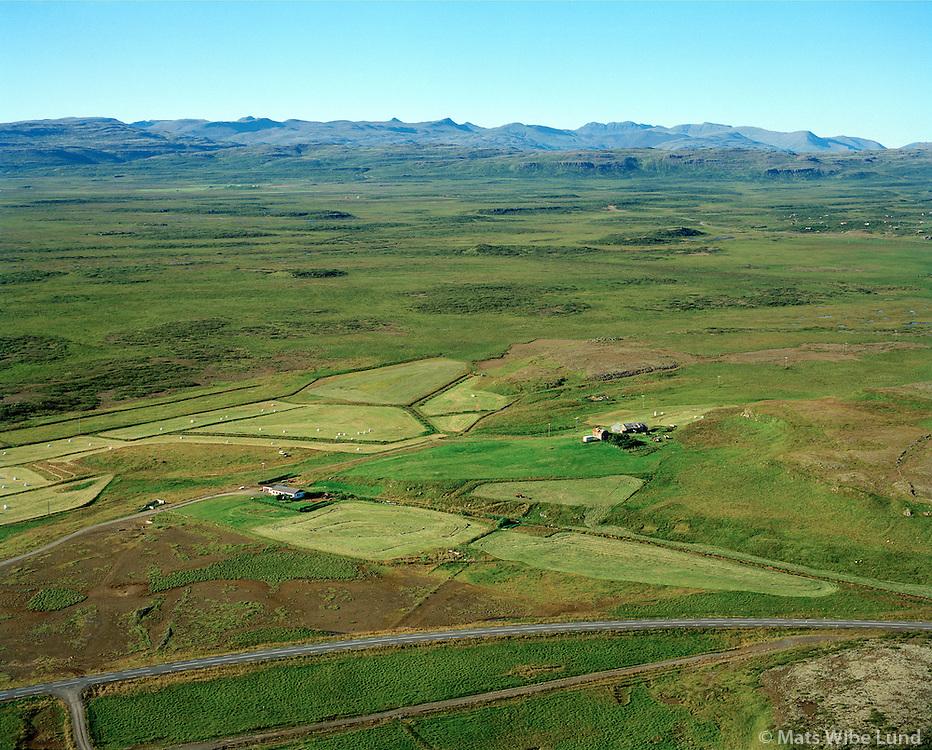 Galtarholt séð í vestnorðvestur, Borgarbyggð áður Borgarhreppur / Galtarholt viewing westnorthwest, Borgarbyggd former Borgarhreppur.