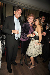 Left to right, JOHN MADEJSKI, CILLA BLACK and JADE JAGGER at a party to celebrate the 10th Anniversary of Claridge's Bar, Claridge's Hotel, Brook Street, London on 11th November 2008.