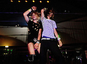 "Milano, discoteca Le Quinte, festa di premiazione Scene Queen and Scene King dell'anno. Milan, scene queen and scene king contest in disco club Le Quinte.. The scene is an idea that started in the late 90s for most of the people who will be reading this; it was a community of people joined together to share the love of music. If you saw the band Thursday in 2002, you would know what the scene was. There was a sense of community and a genuine love for creative music rather than the cookie-cutter dance-pop bands that are currently plaguing the scene. Today, thanks to the Internet and rampant Myselfism, it has degenerated into a popularity contest where the music is a springboard and an excuse to let those displaced by the boy band implosion of the new millenium find an edgy way to remain shallow and vapid, a way to conform to individuality...Urban Dictionary lists various different definitions for scene queen, but I have come up with a pretty good definition of what a scene queen is...Scene Queen (n): One who attempts to make a name for herself in the ""scene"" through exploitative and superficial means, whether it be posing provocatively for social networking sites and whoring herself out for the maximum amount of friends/devotees possible, dating a member of a popular band, and/or being blatantly and overly controversial in an attempt to be heard in an increasingly crowded Internet marketplace. Must wear copious amounts of make up and have ridiculously impractical hair. (http://www.absolutepunk.net/journal.php?do=showentry&e=32451).."