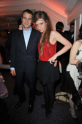 BEN & KATE GOLDSMITH at Quintessentially's 10th birthday party held at The Savoy Hotel, London on 13th December 2010.