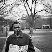 Roscoe Wiliams, executive assistant to the president of Paine College in Augusta, Georgia.  Williams once worked for Augusta National co-founder Clifford Roberts for one week where his job consisted of mixing drinks for him for 8 hrs a day while Clifford played solitaire. When the job was over, Clifford asked Williams to throw away a box of magazines. Williams decided to keep the thirty, first edition Sports Illustrateds that came in a hard cover. He is seen holding one of those first editions.