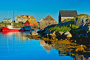 Fishing boat in iconic coastal fishing village<br />