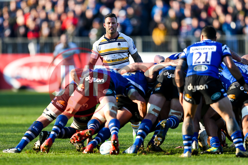 Francois Hougaard of Worcester Warriors - Rogan/JMP - 17/11/2018 - RUGBY UNION - The Recreation Ground - Bath, England - Bath Rugby v Worcester Warriors - Gallagher Premiership.