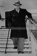 Rome, Fiumicino Airport, November 1956. Arrival of composer, pianist and conductor Igor Stravinsky / Roma, Aeroporto di Fiumicino, novembre 1956. Arrivo del compositore, direttore d'orchestra e pianista Igor Stravinskij - Marcello Mencarini Historical Archives