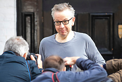 © Licensed to London News Pictures. 28/05/2019. London, UK. Secretary of State for Environment, Food and Rural Affairs Michael Gove, who is running to be the next leader of the Conservative Party and Prime Minister, seen leaving his home in London. Photo credit: Rob Pinney/LNP