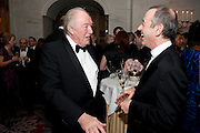 SIR MICHAEL GAMBON; SIR NICHOLAS HYTNER, 56th London Evening Standard Theatre Awards. Savoy Hotel. London. 28 November 2010.  -DO NOT ARCHIVE-© Copyright Photograph by Dafydd Jones. 248 Clapham Rd. London SW9 0PZ. Tel 0207 820 0771. www.dafjones.com.