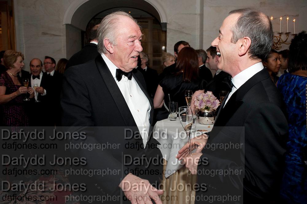 SIR MICHAEL GAMBON; SIR NICHOLAS HYTNER, 56th London Evening Standard Theatre Awards. Savoy Hotel. London. 28 November 2010.  -DO NOT ARCHIVE-© Copyright Photograph by Dafydd Jones. 248 Clapham Rd. London SW9 0PZ. Tel 0207 820 0771. www.dafjones.com.