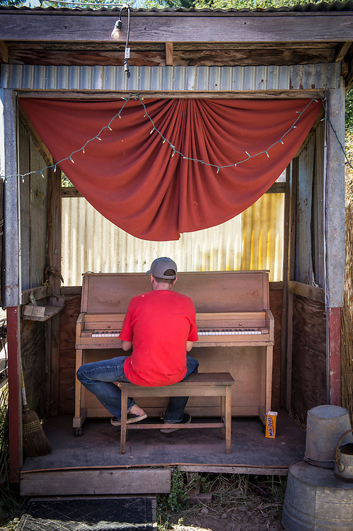 Bill Purcell, Playing the piano behind the Galaxy Barn.
