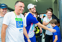 Blaz Kavcic of Slovenia celebrates after winning in Semifinals during Day 6 of ATP Challenger Tilia Slovenia Open 2014 on July 12, 2014 in Tennis stadium SRC Marina, Portoroz / Portorose, Slovenia. Photo by Vid Ponikvar / Sportida