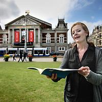 Nederland, Amsterdam , 15 april 2013.<br /> Voor de serie de aanloop naar 30 april.<br /> Marleene Goldstein zangeres gefotografeerd voor het concertgebouw.<br /> Dutch contaltro Marleene Goldstein will sing on King's Day , April 30.