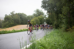 A Team BMS Birn rider digs deep on the last, main climb during the 76,1 km first stage of the 2016 Ladies' Tour of Norway women's road cycling race on August 12, 2016 between Halden and Fredrikstad, Norway. (Photo by Balint Hamvas/Velofocus)