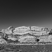 Mormon Rocks - Elevated North View - Infrared Black & White