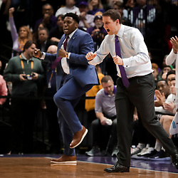 Jan 19, 2019; Baton Rouge, LA, USA; LSU Tigers head coach Will Wade reacts after a basket during the first half against the South Carolina Gamecocks at the Maravich Assembly Center. Mandatory Credit: Derick E. Hingle-USA TODAY Sports