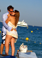 **EXCLUSIVE**.Princess Beatrice kissing her boyfriend , .Club 55 Restaurant .St. Tropez, France..Sunday, July 29, 2007.Photo By Celebrityvibe.com.To license this image please call (212) 410 5354; or.Email: celebrityvibe@gmail.com ;.