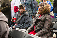 """The 12th annual Hyde Park Jazz Festival was held this weekend, Saturday, September 29th and Sunday, September 30th, 2018 at various venues around Hyde Park. Jazz musicians from all around came out to play at the two-day event. <br /> <br /> 3344 – Civil rights activist and historian, Timuel Black and his wife Zenobia enjoy the event Sunday afternoon on the Midway Plaisance located at 1130 Midway Plaisance on the University of Chicago campus.<br /> <br /> Please 'Like' """"Spencer Bibbs Photography"""" on Facebook.<br /> <br /> Please leave a review for Spencer Bibbs Photography on Yelp.<br /> <br /> Please check me out on Twitter under Spencer Bibbs Photography.<br /> <br /> All rights to this photo are owned by Spencer Bibbs of Spencer Bibbs Photography and may only be used in any way shape or form, whole or in part with written permission by the owner of the photo, Spencer Bibbs.<br /> <br /> For all of your photography needs, please contact Spencer Bibbs at 773-895-4744. I can also be reached in the following ways:<br /> <br /> Website – www.spbdigitalconcepts.photoshelter.com<br /> <br /> Text - Text """"Spencer Bibbs"""" to 72727<br /> <br /> Email – spencerbibbsphotography@yahoo.com<br /> <br /> #SpencerBibbsPhotography #HydePark #Community #Neighborhood<br /> #Music<br /> #HydeParkJazzFestival<br /> #Jazz<br /> #LiveMusic"""