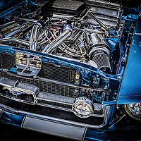 Close up of Ford Mustang engine