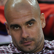 Pep Guardiola, FC Bayern Munich Manager, on the touchline during the FC Bayern Munich vs Chivas Guadalajara, Audi Football Summit match at Red Bull Arena, New Jersey, USA. 31st July 2014. Photo Tim Clayton