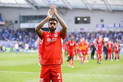 Mark Little of Bristol City celebrates their win over Brighton & Hove Albion, 1-0 and are now confirmed as staying up - Mandatory by-line: Jason Brown/JMP - 29/04/2017 - FOOTBALL - Amex Stadium - Brighton, England - Brighton and Hove Albion v Bristol City - Sky Bet Championship