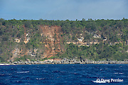 cliffs on outside of Hunga Island, Vava'u, Kingdom of Tonga, South Pacific