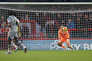 James McKeown saves a Crawley town goal during the EFL Sky Bet League 2 match between Crawley Town and Grimsby Town FC at the Checkatrade.com Stadium, Crawley, England on 26 November 2016. Photo by Jarrod Moore.