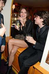 SASHA VOLKOVA and SASHA BAILEY at Tatler Magazine's Little Black Book Party held at Annabel's, Berkeley Square, London on 5th November 2013.