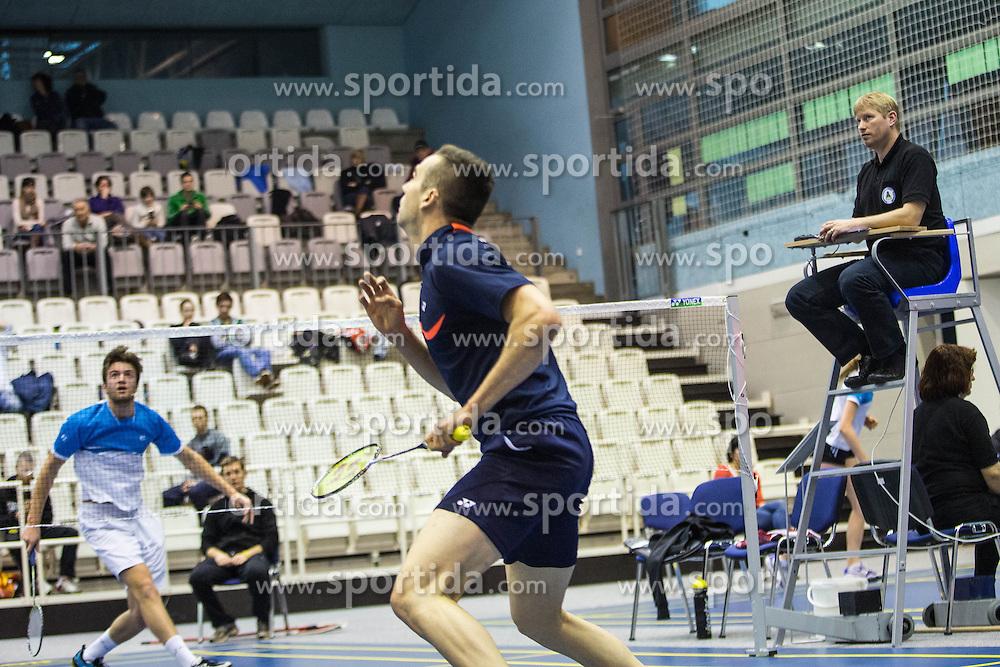 57th Slovenian national championship in badminton on Februar  2, 2014 in Medvode, Slovenia. (Photo By Grega Valancic / Sportida)