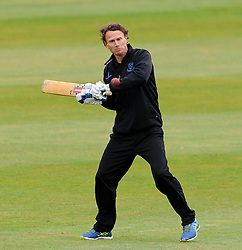Sussex's Coach Mark Davis - Photo mandatory by-line: Harry Trump/JMP - Mobile: 07966 386802 - 08/07/15 - SPORT - CRICKET - LVCC - County Championship Division One - Somerset v Sussex- Day Four - The County Ground, Taunton, England.