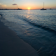 Sunset by the sea..Cancun, Quintana Roo..Mexico.