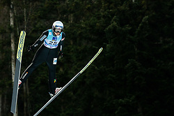Silje Opseth of Norway soaring through the air during 1st Round at Day 1 of World Cup Ski Jumping Ladies Ljubno 2019, on February 8, 2019 in Ljubno ob Savinji, Slovenia. Photo by Matic Ritonja / Sportida