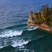 """Rushing Waves at Miners Castle"" <br />