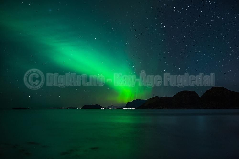 Northern Light, Herøy, Norway   Nordlys over Godøy, tatt fra Sande i Herøy.