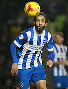 Brighton defender full back Inigo Calderon during the Sky Bet Championship match between Brighton and Hove Albion and Wolverhampton Wanderers at the American Express Community Stadium, Brighton and Hove, England on 1 January 2016. Photo by Bennett Dean.
