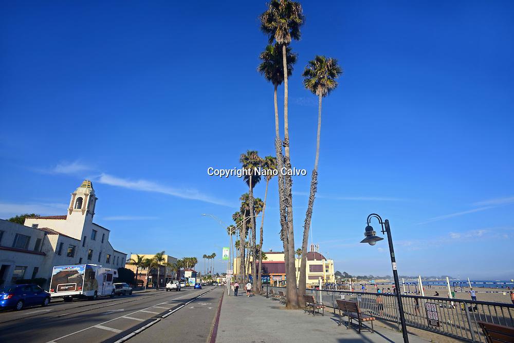 Santa Cruz boardwalk, California.