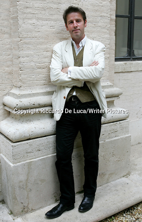 orth Irish writer Robert McLiam Wilson poses for photographers prior to a press conference in Rome, on the eve of his performance at the 2007 Rome's Literary Festival.<br /> <br /> copyright Riccardo De Luca/Writer Pictures<br /> contact  +44(0)20 8241 0039<br /> info@writerpictures.com<br /> www.writerpictures.com