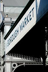 UK ENGLAND LONDON 16MAR07 - Signage at the historic Borough Market in Southwark, London. ..jre/Photo by Jiri Rezac..© Jiri Rezac 2007..Contact: +44 (0) 7050 110 417.Mobile:  +44 (0) 7801 337 683.Office:  +44 (0) 20 8968 9635..Email:   jiri@jirirezac.com.Web:    www.jirirezac.com..© All images Jiri Rezac 2007 - All rights reserved.