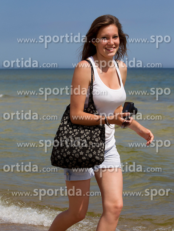 Girl at beach on June 18, 2012. Photo by Vid Ponikvar / Sportida.