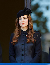 The Duchess of Cambridge  during the annual Remembrance Sunday Service at the Cenotaph, Whitehall, London, United Kingdom. Sunday, 10th November 2013. Picture by i-Images