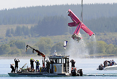 Taupo- Skydive Taupo's aircraft removed from lake