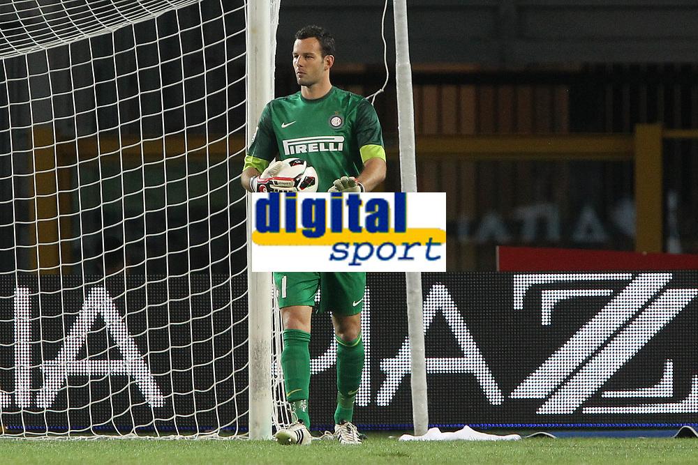 "Samir Handanovic Inter<br /> Torino 16/09/2012 Stadio ""Olimpico""<br /> Football Calcio Serie A 2012/13<br /> Torino v Inter<br /> Foto Insidefoto Paolo Nucci"