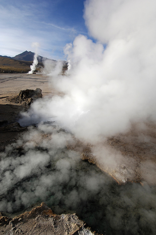 Tatio Geysers, San Pedro de Atacama, Altiplano, Antofagasta, Chile.