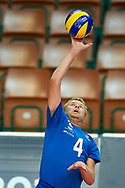 Katowice, Poland - 2017 September 02: Partner Ville Rentala from SO Finland spikes the ball while SO Azerbaijan versus SO Finland match during European Unified Volleyball Tournament 2017 at Spodek Hall on September 02, 2017 in Katowice, Poland.<br /> <br /> Adam Nurkiewicz declares that he has no rights to the image of people at the photographs of his authorship.<br /> <br /> Picture also available in RAW (NEF) or TIFF format on special request.<br /> <br /> Any editorial, commercial or promotional use requires written permission from the author of image.<br /> <br /> Image can be used in the press when the method of use and the signature does not hurt people on the picture.<br /> <br /> Mandatory credit:<br /> Photo by © Adam Nurkiewicz / Mediasport