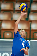 Katowice, Poland - 2017 September 02: Partner Ville Rentala from SO Finland spikes the ball while SO Azerbaijan versus SO Finland match during European Unified Volleyball Tournament 2017 at Spodek Hall on September 02, 2017 in Katowice, Poland.<br /> <br /> Adam Nurkiewicz declares that he has no rights to the image of people at the photographs of his authorship.<br /> <br /> Picture also available in RAW (NEF) or TIFF format on special request.<br /> <br /> Any editorial, commercial or promotional use requires written permission from the author of image.<br /> <br /> Image can be used in the press when the method of use and the signature does not hurt people on the picture.<br /> <br /> Mandatory credit:<br /> Photo by &copy; Adam Nurkiewicz / Mediasport