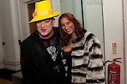 BOY GEORGE; MARTINA RINK; , Isabella Blow  by Martina Rink.  Haunch of Venison. London. 13 September 2010., DO NOT ARCHIVE-© Copyright Photograph by Dafydd Jones. 248 Clapham Rd. London SW9 0PZ. Tel 0207 820 0771. www.dafjones.com.