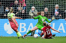 Ellen White of Manchester City Women scores her sides second goal of the game  - Mandatory by-line: Ryan Hiscott/JMP - 24/11/2019 - FOOTBALL - Stoke Gifford Stadium - Bristol, England - Bristol City Women v Manchester City Women - Barclays FA Women's Super League