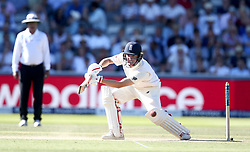 Gary Ballance of England hits a cut shot - Mandatory by-line: Robbie Stephenson/JMP - 08/07/2017 - CRICKET - Lords - London, United Kingdom - England v South Africa - Investec Test Series