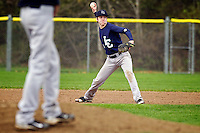 Lake City High shortstop Ray Buley reaches back to make the throw to first base during the T-wolves game Friday, May 7, 2011 against Lewiston.