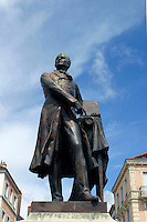 Statue of Joseph Nicephore Niepce, inventor of photogaphy. Chalon-sur-Saone, Burgundy France