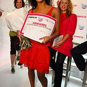 "NLD/Amsterdam/20080529 - Verkiezing Killerlegs on the catwalk "" Mooiste benen van Nederland 2008 "" , winnares Sanae Chirar"