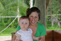 EXCLUSIVE: How about owning your own tropical Caribbean luxury resort for just $10. American couple Suzanne and Dave Smith are selling off their incredible Casa Cayuco Eco Adventure Lodge, in Bocas del Toro, Panama, Central America. But instead of listing their stunning multi-million-pound island getaway for sale they are offering the chance for anyone who buys a $10 ticket to win their extraordinary lifestyle and profitable business. Dave and Suzanne have spent five years turning a former rustic lodge into one that has just been voted number one resort on TripAdvisor in Panama. Their incredible two-acre slice of heaven is bordered by sloth-filled rainforest to the rear and crystal clear coral sea to the front. The lucky winner of the 24-guest resort will become owner of four stand-alone cabins, a main lodge, two lodge suites, and an air-conditioned luxury owner's suite designed by Dave and Suzanne themselves and built by skilled local carpenters. Outside, Casa Cayuco comes with its own jetty and thatch covered sun terrace as well as everything you need to run a business, including commercial kitchen communication tower, laundry and maintenance building and THREE power boats, each over 23-foot long. Kayaks, snorkelling, spear fishing and paddle boards and surf gear are also ready and waiting to be used by a new owner and guests alike. And if that's not enough, British competition organisers WinThis.Life https://winthis.life/index.aspx# are offering a $50,000 cash injection to welcome the new owners. All those wishing to take part have to do is buy one or more tickets and play a spot-the-ball-type competition on the website. Entries are being taken extension until April 11. Dave, 35, and Suzanne, 33, first arrived on the island in 2013 with just seven suitcases having decided to sell up from their home and corporate lives near Detroit, Michigan, USA. 16 Feb 2018 Pictured: Pic shows present owner Suzanne and daughter Mina at Caribbean resort Casa Cayuco in Panama